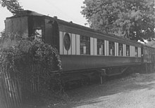 Photograph showing a Pullman carriage that was built between 1929 and 1934 to the Hastings line loading gauge.