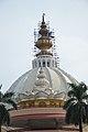 Pushpa Samadhi Mandir Dome With Spires - ISKCON Campus - Mayapur - Nadia 2017-08-15 2300.JPG