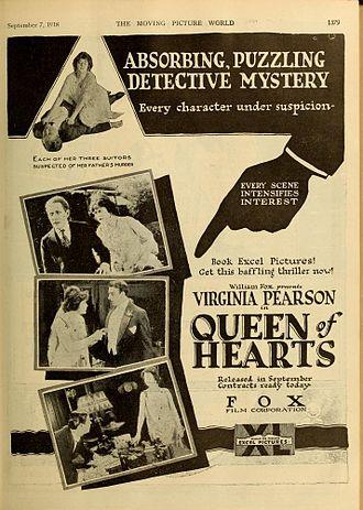 Virginia Pearson - Image: Queen of Hearts 1919