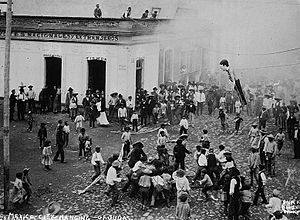 Cartonería - Burning of Judas early 20th century