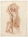 Rödkriteteckning på naken man, 1760-tal - Skoklosters slott - 99345.tif