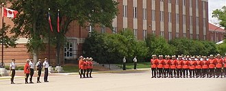 RCMP Academy, Depot Division - Cadets wear the iconic red serge of the force at graduation