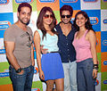 RJ Salil, Priyanka Chopra, Shahid Kapoor, RJ Archana at 'Teri Meri Kahaani' promotional in Radio City 91.1 FM (19).jpg
