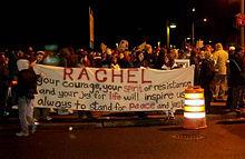 Rachel Corrie vigil