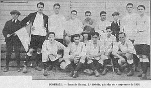 Ángel Betular - The Racing Club team of 1914, with Betular as one of its players.