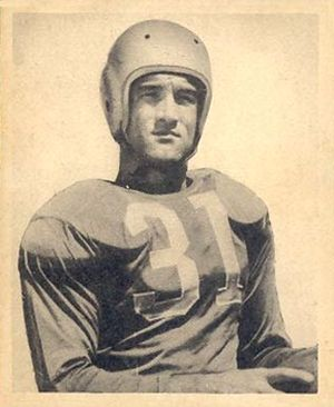 Ralph Heywood - Heywood on a 1948 Bowman football card