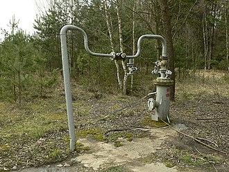 In situ leach - Remains of uranium in-situ leaching in Stráž pod Ralskem, Czech Republic