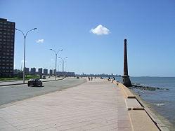 The Montevideo beach