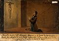 Ramon Gimena being cured of a strong sickness. Oil painting Wellcome V0017470.jpg