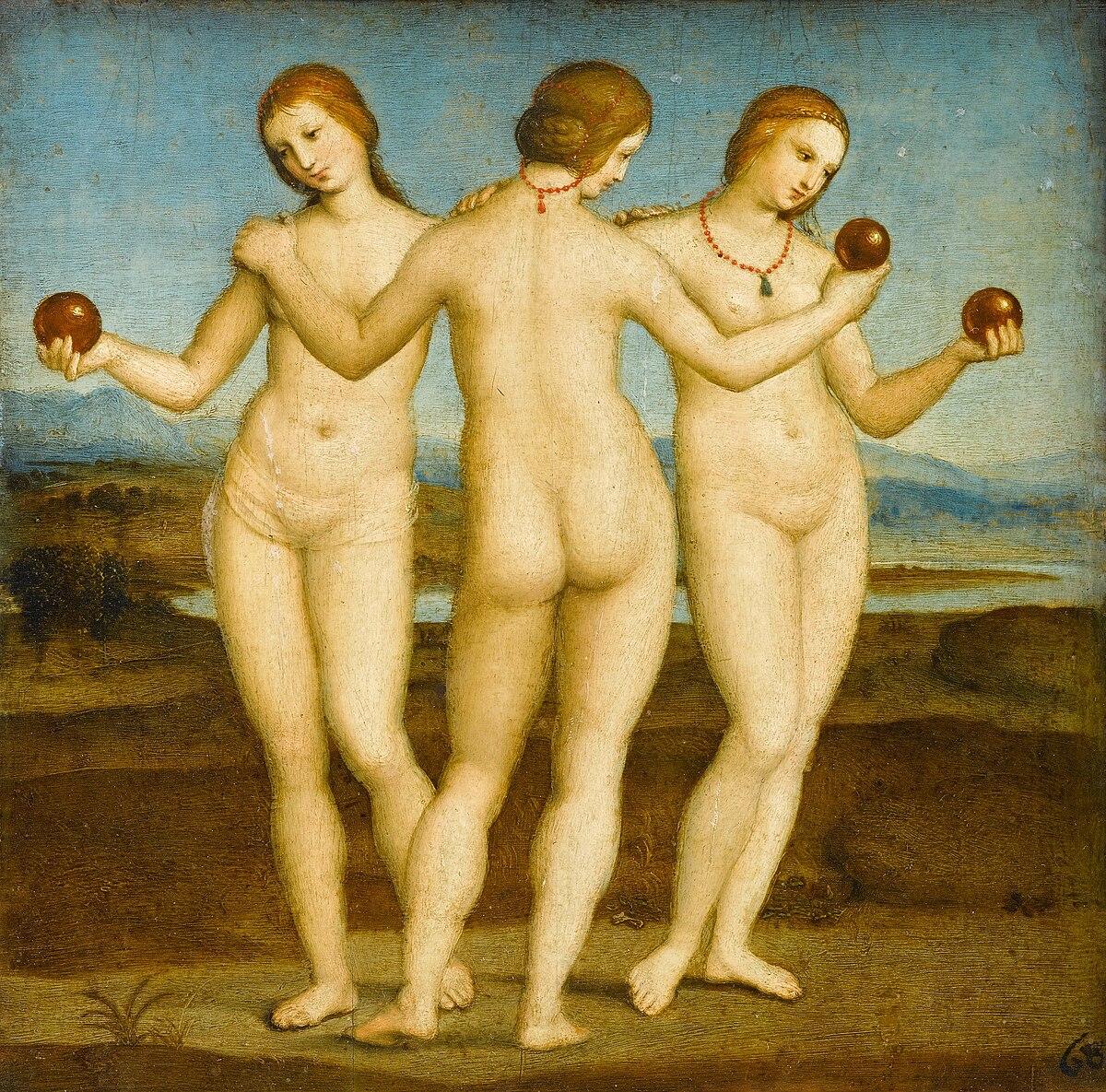 Raphael, The Three Graces, 1504-1505, Musée Condé, Chantilly, France.