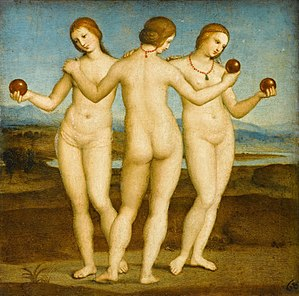 Women three nude painting Renaissance