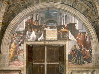 Felice della Rovere - Raphael's The Mass at Bolensa, in which Felice is believed to be represented.