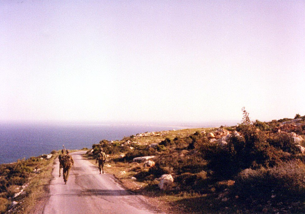 Ras biada Israel army patrol in South lebanon