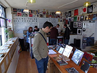 Record Store Day - Record Store Day 2014 at Drift Records, Totnes, England