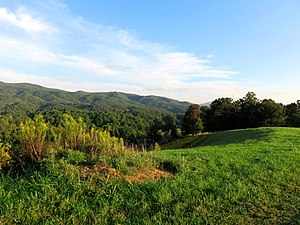 Johnson County, Tennessee - Mountainous terrain near Laurel Bloomery