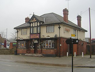 Shire Brook - Shire Brook's source is a spring beneath the Red Lion public house at Gleadless Townend.