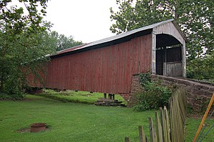 Brecknock Township, Lancaster County, Pennsylvania - Red Run Covered Bridge (1866) National Register of Historic Places