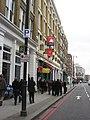 Red route in Great Eastern Street, EC1 - geograph.org.uk - 1112124.jpg