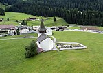 Reformed church of Davos Frauenkirch, aerial photography 1.jpg