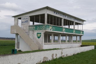 Reims-Gueux - Timekeepers' building at the former Reims-Gueux circuit pictured in 2016