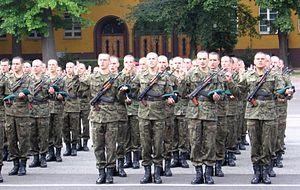 Polish Army oaths - Image: Rekruci przysiega
