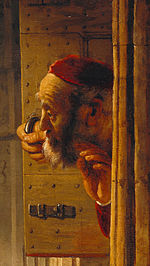 Rembrandt - Samson threatened his father-in-law - Google Art Project (cropped for father-in-law).jpg