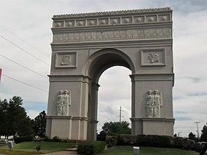 Replica del arco del triunfo