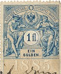 Revenue stamps of Austria-Hungary 1fl Ein Gulden.jpg