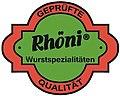 Rhöni - Logo of a German company of sausage specialties - Logo der deutschen Firma Rhöni.jpg