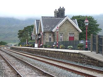 John Holloway Sanders - Ribblehead railway station opened in 1876. An example of Derby Gothic by John Holloway Sanders