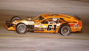 Richie Evans - Evans at New Smyrna Speedway in 1985