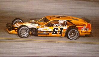 New Smyrna Speedway - Richie Evans competes at New Smyrna Speedway circa 1985