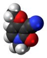 Ricinine molecule spacefill.png