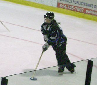 Ringette - Stéphanie Séguin, member of Montreal Mission and Canadian National Team