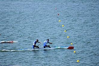 Canoe sprint - Image: Rio 2016. Canoagem de velocidade Canoe sprint (29147289965)