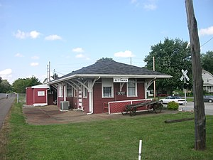 The former Erie Railroad depot in Rittman, now a restaurant.