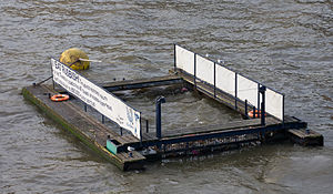 A Rubbish Trap on the River Thames near the Mi...