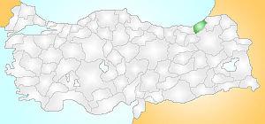 Çamlıhemşin - Image: Rize Turkey Provinces locator