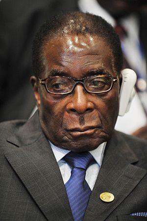 Robert Mugabe, president of Zimbabwe, attends ...