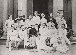 Elisha Smith Robinson - A cricket XI of Robinsons all directly related to Elisha Smith Robinson who lost by 37 runs to an XI of Graces all directly related to W.G.Grace.