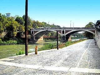 Ponte Sublicio bridge in Italy