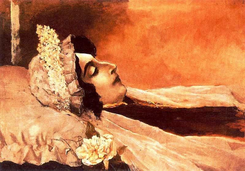 Rosalía morta por Ovidio Murguía, seu fillo