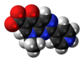 Rosoxacin zwitterion spacefill.png