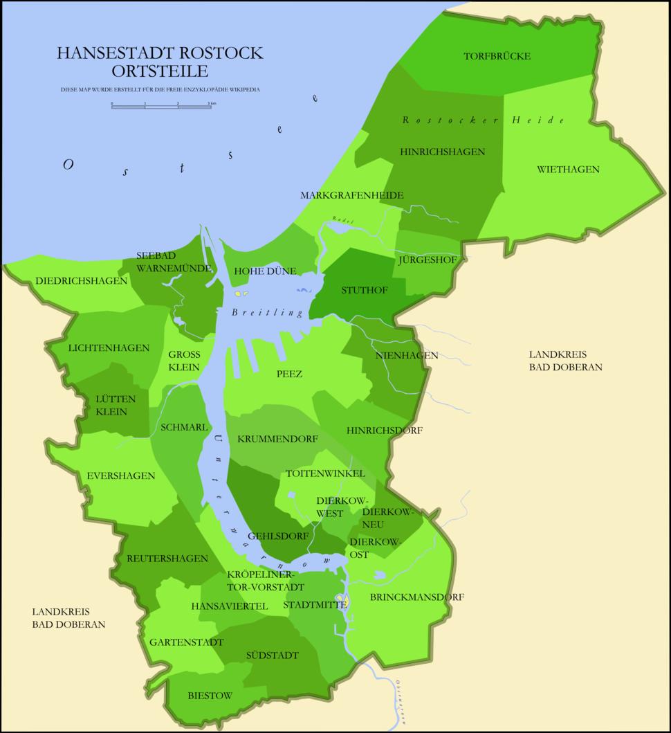 Rostock Verwaltungsgliederung