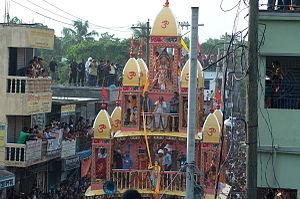Hinduism in Bangladesh - Roth Procession at Dhamrai