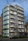 foto van Parklaanflat: appartementengebouw met acht etagewoningen boven elkaar