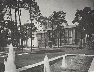 Roudaki Hall - Outside of the Hall in 1970.