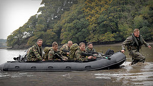 Inflatable Raiding Craft - A Royal Marines' Inflatable Raiding Craft (IRC).