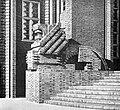Ruestringen townhall Fritz Hoeger Carl Dransfeld brick lion Wilhelmshaven Germany.jpg