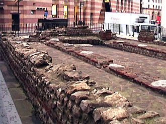Walbrook - London Mithraeum, ruins of the mystery cult of Mithras stemming from ancient Persia by way of the Romans